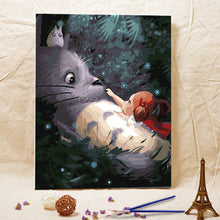Frameless Handmade TOTORO Picture  Oil Painting On Canvas