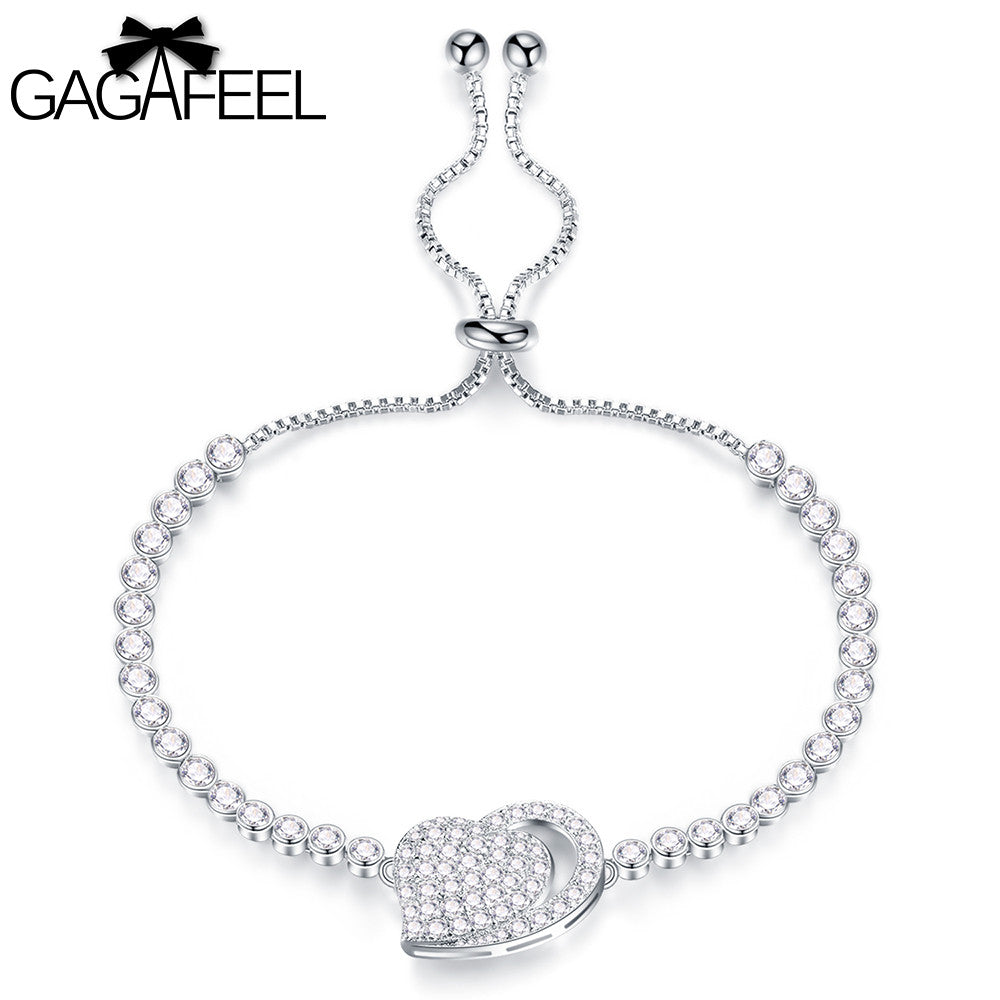Women's Bracelet Bangle Adjustable Heart Fashion Bracelet