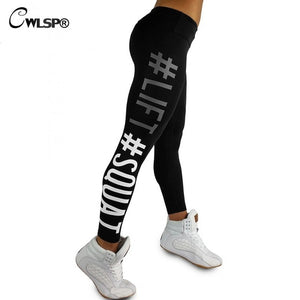 Lift Squat Print Fitness Pants