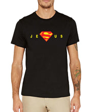Jesus letters printed short sleeve tee Shirt male fashion