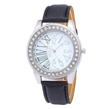 Fun and Unique Womens Fashion Leather Band Analog Quartz Round Wrist Watch