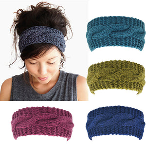 Women's Wool Crochet Turban Headband