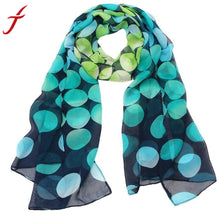 JECKSION  Womens  Chiffon Dot Rectangle Scarf