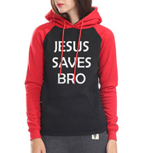 Jesus Saves Bro female raglan brand hoodies
