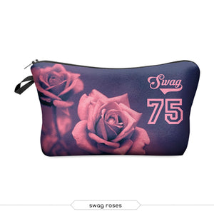 Deanfun  New Fashion 3D Printing Women Makeup Bags