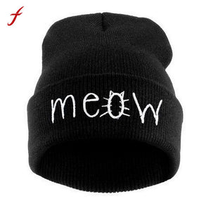 "NEW! ""MEOW"" Beanies"