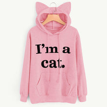 "'I'm a Cat"" Women's Sweatshirt Cute Cat Ear Hoodie"
