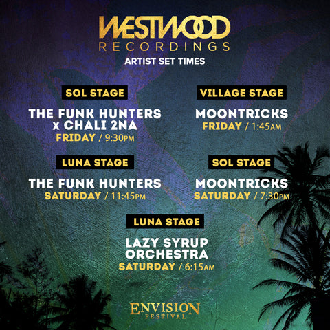 Envision festival 2020 Westwood artist set times announced
