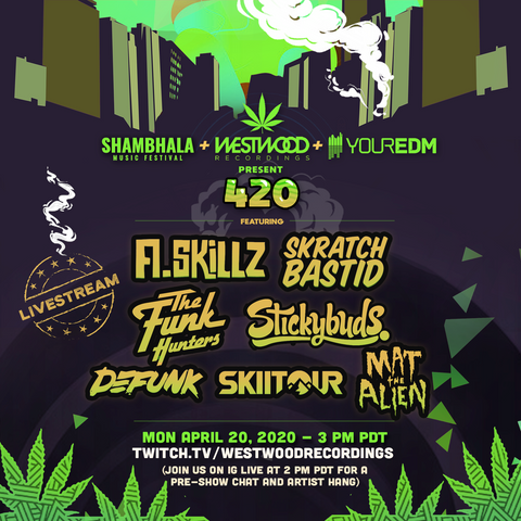 Shambhala Music Festival, Westwood Recordings and YourEDM announce stacked 420 livestream event