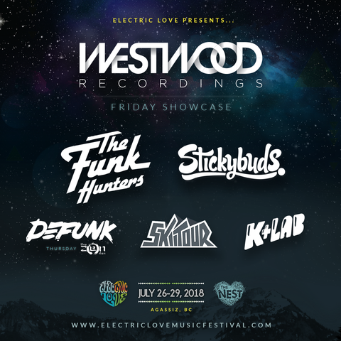 Westwood Showcase announced at Electric Love Music Festival!