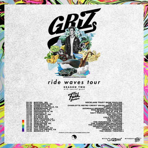 THE FUNK HUNTERS ADDED AS DIRECT SUPPORT FOR GRIZ'S 'RIDE WAVES' TOUR
