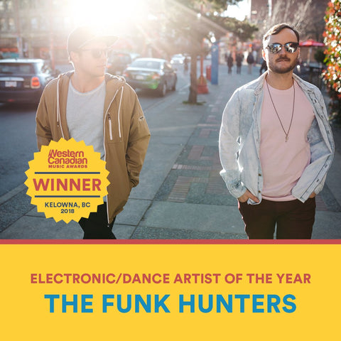 The Funk Hunters win Electronic Artist of The Year at the 2018 WCMA'S!