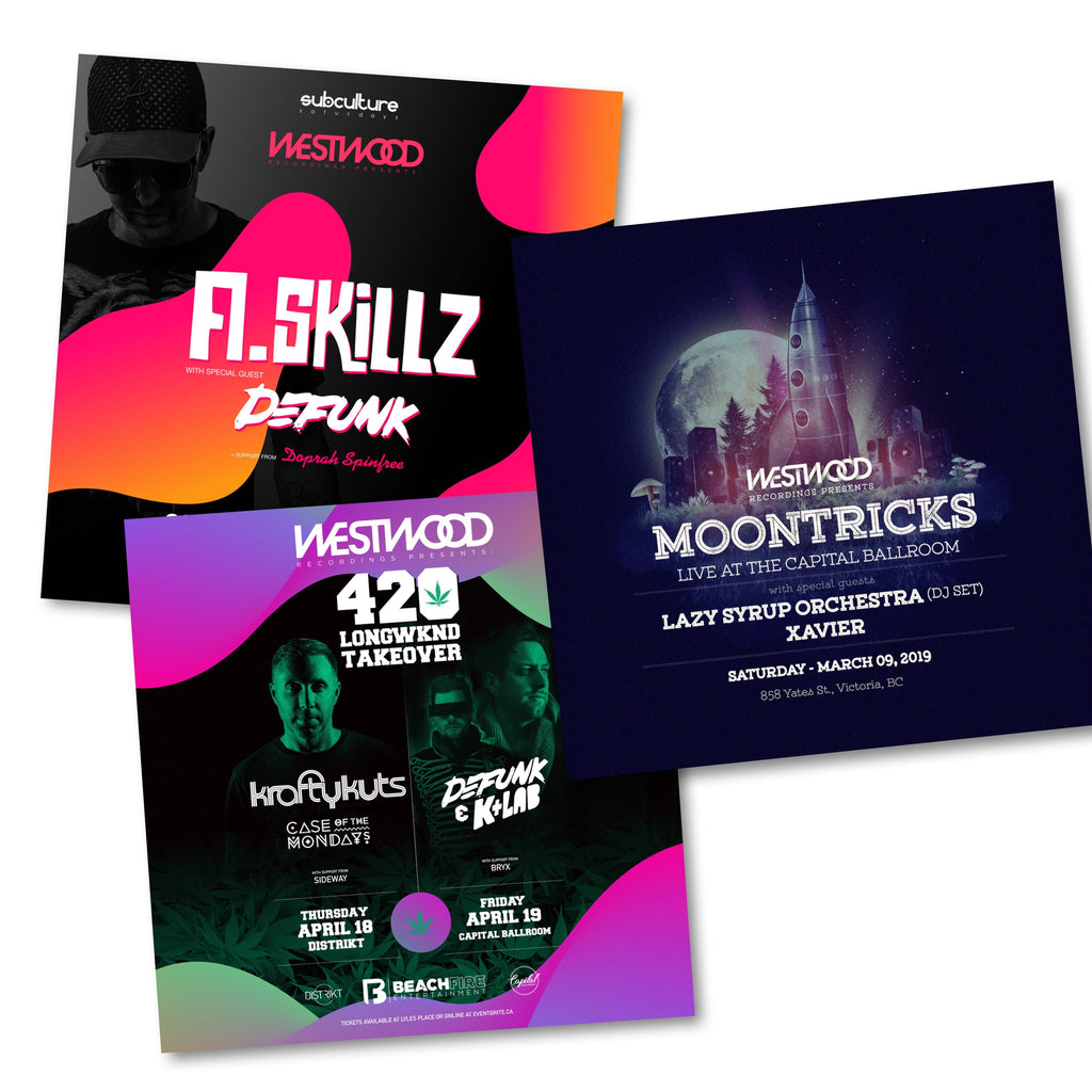 Upcoming Westwood Events: Moontricks / A.Skillz / Defunk & K+Lab