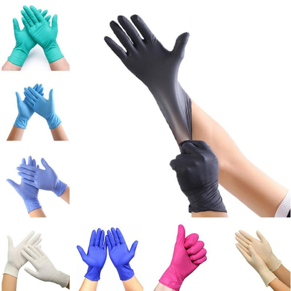Multicolored Universal Disposable Latex Gloves 100 PCS (Housework/Medical)