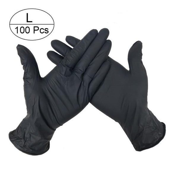 100 PCS Disposable Gloves Latex Universal 4 Colors (Housework and Medical Use)