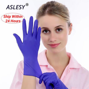 100pcs Multifunctional Durable Nitrile Disposable Gloves ( Laboratory Use and Cleaning)
