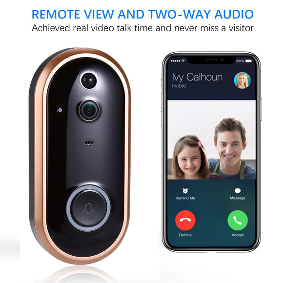 ♣♣ Voco-20X Video Doorbell ♣♣ 1080P Smart WIFI Doorbell. Intercom Video. Great Door Bell With Camera.  IR Entry Door Alert. Wireless Security Chime Door Cam Alarm.