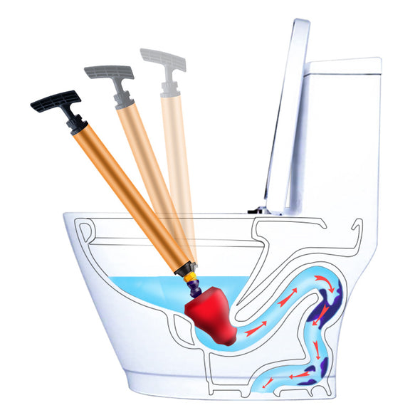 Home High Pressure Air Drain Blaster Pump  - Cleaner Kit Plunger/Sink Pipe - Clog Remover for Toilets Bathroom & Kitchen