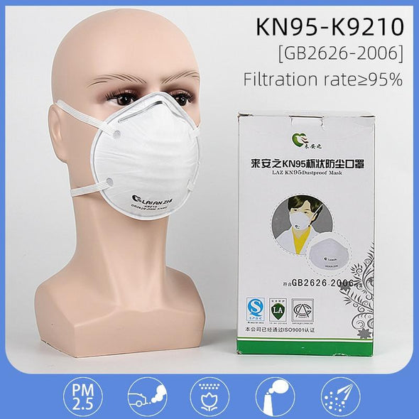 ***USA- CANADA-60pcs KN95 N95 Disposable Masks Respirator Cup Shape Protective Anti Dust Flu Face Mask KF94