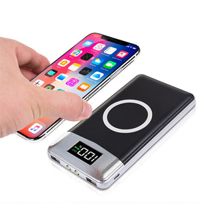 YK20 Power Bank.  External Battery Bank . Built-in Wireless Charger Powerbank. Portable QI Wireless Charger for iPhone 8 8plus X [20000mah]