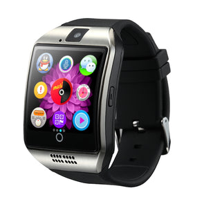 Q18 Smart Watch with Sim & TF Card - Slot Push Message -Camera Bluetooth Connectivity for  Android Phone