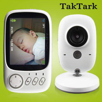 Tak Wireless Baby Monitor Video Camera.  Baby Monitor With High Resolution. Baby's Nanny Security Camera Monitoring.  Night Vision & Temperature Monitoring.