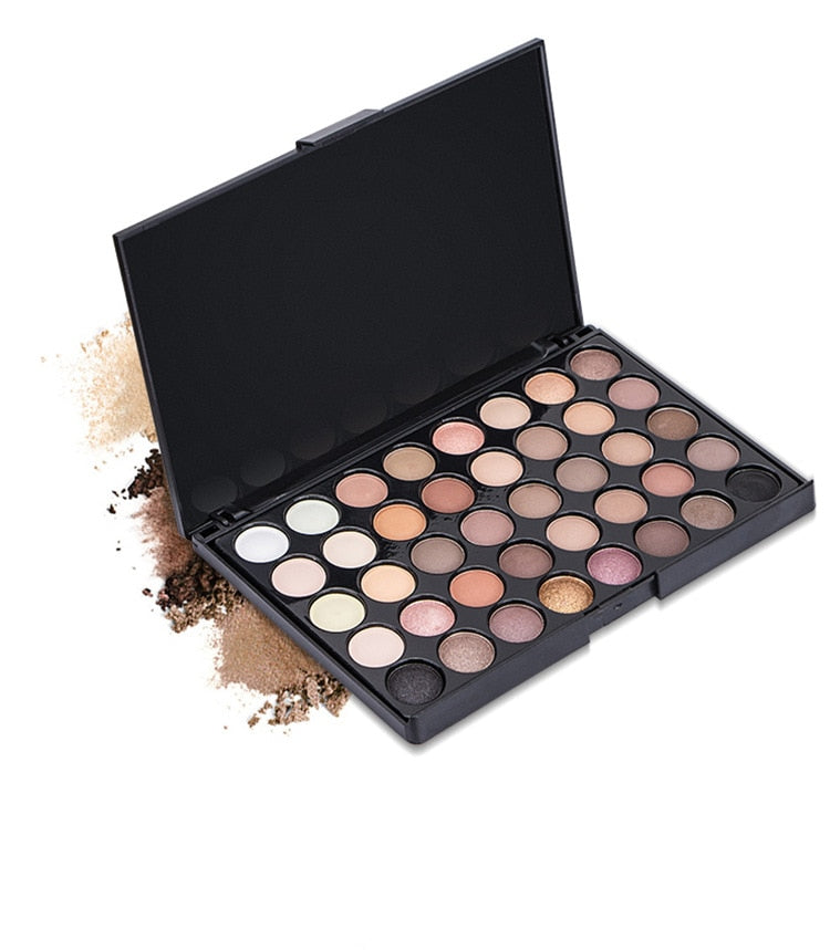 Just Matte Eye Shadow Pallete Make Up Earth Palette Makeup Glitter Waterproof Lasting Makeup Easy To Wear 40 Color Beauty Essentials Eye Shadow