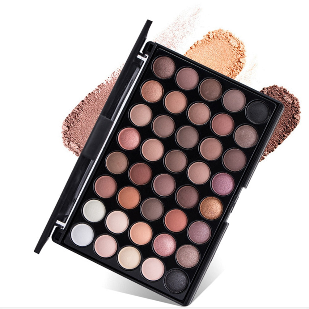 Beauty Essentials Just Matte Eye Shadow Pallete Make Up Earth Palette Makeup Glitter Waterproof Lasting Makeup Easy To Wear 40 Color