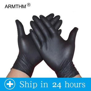 Black Disposable Gloves Latex 50-100 PCS (Housework and Medical Use)