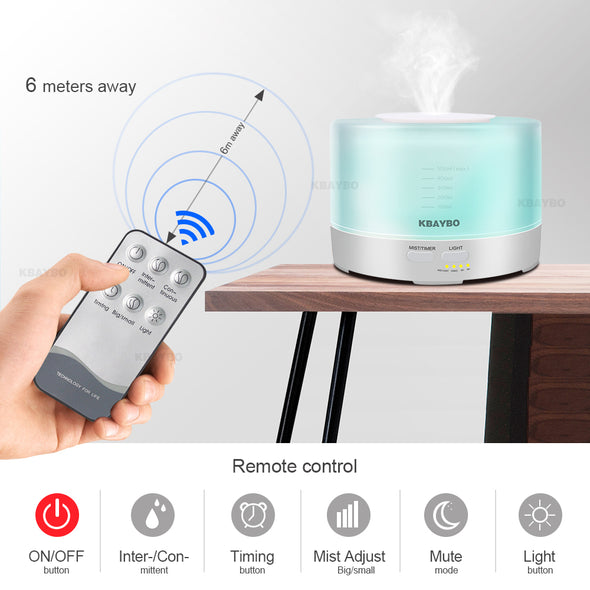 Aromatherapy Essential Oil. Aroma Diffuser. Air Aroma Humidifier.  Equipped With  Remote  Control & 7 Color LED. Best Ultrasonic Aroma Humidifier.