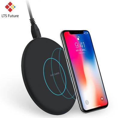 Wireless Charger Pad For Iphone X 8 -Samsung S8 S7- Fast Wireless Charger 10W Qi Certified