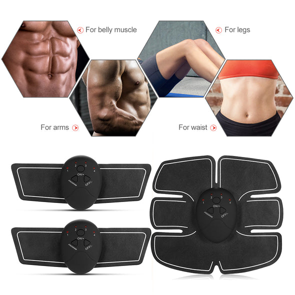 Abdominal Muscle Trainer - Great Fitness Toner  for your Belly Leg Arm - When combined with  Exercise & Healthy habits such as Training & Workout