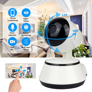Baby Monitor. Portable WiFi IP Camera.  720P HD Wireless Smart Baby Camera. Audio Video Record Surveillance. Home Security Camera.
