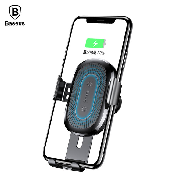 Wireless Charger & Car Holder - For iPhone X 8 Samsung Note8 S8 With  QI Wireless Technology