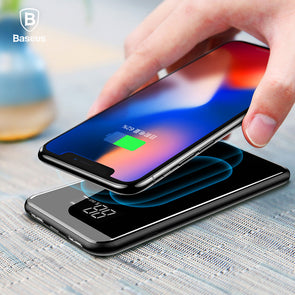 QI Wireless Charger. 2A Dual USB.  Power Bank For iPhone X 8 Samsung S9.  Battery Charger 5W Wireless Charging Pad