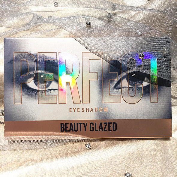 Glaz18 Nude Colorful Shiny Eyeshadow Makeup Palette. The Best Glitter Pigment Smoky Eye Shadow Pallete Ever.Waterproof Cosmetic with High Quality Ingredients.