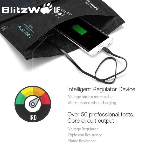 Blitz-7 Solar Power Bank. Solar Panel Powerbank. Dual USB External Battery Pack For iPhone X 8 For Samsung Phone. Backup Charger