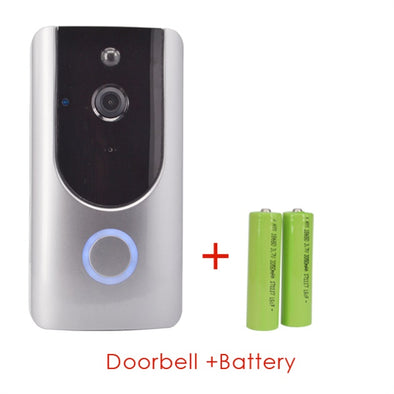 ♠ CW5-Receiver ♠ - Receiver Only - Smart Wireless Doorbell . Security Video Doorbell for Your For Home.  Intercom & Door Viewer Included. Battery Powered.