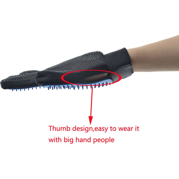 Olaway Brush Glove. New Pet Grooming Brush Glove.  Bathing Comb. Great Pet Cleaning Brush.