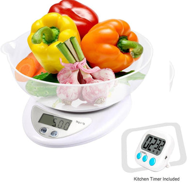Dixx10 Food Scale. Digital Food Scale, Food Kitchen Scale  with Timer