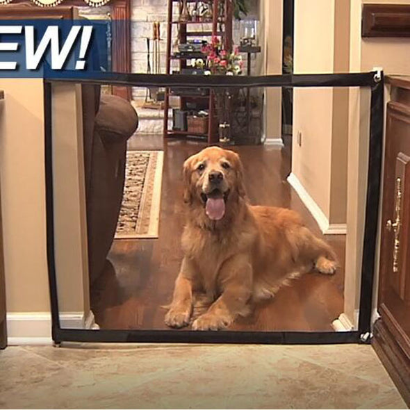 Sag7 Dog Gate.  Ingenious  Magic Pet Gate For Dogs. Easy Installation for Maximum Safety for your Dog. Hurry! 2K Dog Fences Already Sold.