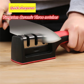 Odi Knife Sharpener Professional.Quick Sharpener. 3 Stages Sharpener Knife.  Grinder Non-Slip Silicone Rubber