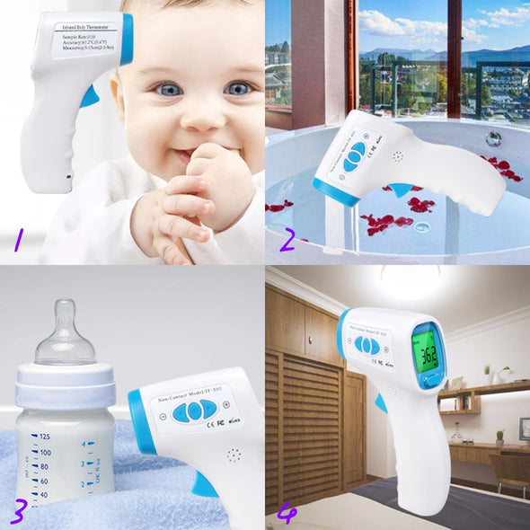ERA-5 Digital Infrared Thermometer. For Baby and Kids Forehead Ear Non-Contact- Also Adult Fever Measurement - LCD