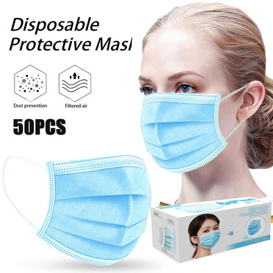 Adult Disposable Cotton Masks. Washable and Reusable Mascarilla Face Masks.