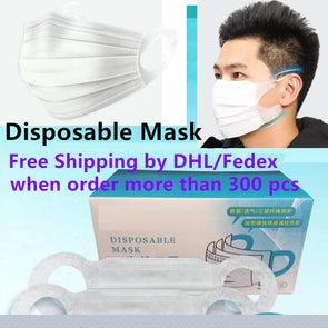 Face Mask. Anti Dust & Anti-Pollution. 3 Layer Mouth Protective Masks.  Elastic Ear Loop. Disposable Dust Filter Safety Mask