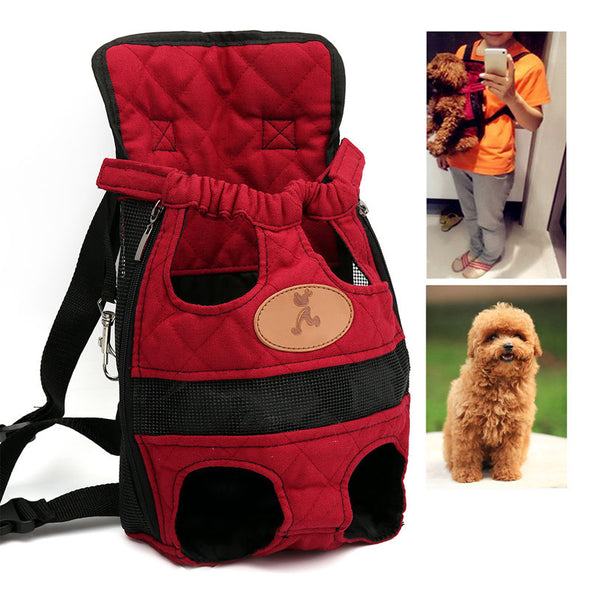 Fasy Dog Carrier.   Travel Breathable Soft Dog Backpack . For Outdoor Puppy Fun & Playtime.  Great for Chihuahua and more. Handy Shoulder bag for your Pet.