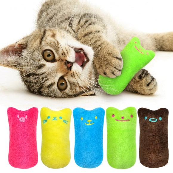 Funny Interactive Plush Cat Toy. Kitten Chewing Toy. Teeth Grinding Catnip.