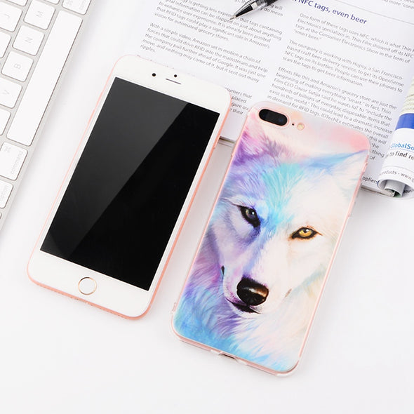 Iphone Case - New Look - Flower - Lovely Puppy - Cartoon  - for iPhone 7 6 6S 8 Plus X 5 5S SE 4 S