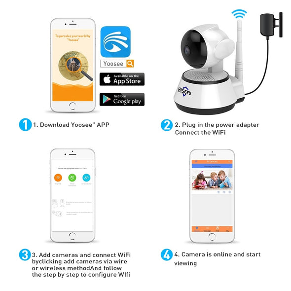 Hiseeu 1080 Home Security.  IP Camera Wireless Smart WiFi . Camera WI-FI . Audio Record Surveillance. Great Home & Baby Monitor. HD Camera 1080P