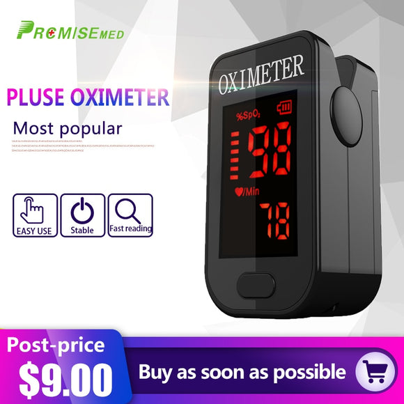 Oximed7-Finger Pulse Oximeter Pr-Household Health Monitors Oximeter CE Medical Heart Rate Monitor LED Fingertip Pulse Oximeter Finger Blood Oxygen-Cool Black
